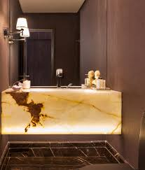 Masculine Bathroom Designs Powder Room Single Wall Sconce Minimalist Decor Pinterest