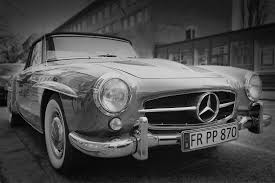 mercedes white vintage mercedes car black white free stock photo negativespace