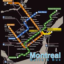 Montreal Subway Map by Cost Of Living Montreal