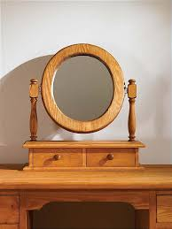 mottisfont waxed dressing table mirror oval oak furniture solutions