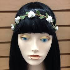 hippie flower headbands mini white flower crown headband for festival wedding