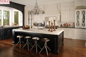 wood kitchen cabinets with white island white wood kitchen cabinet black island