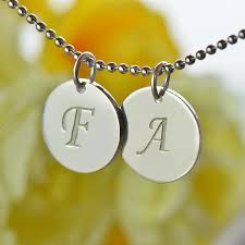my name jewelry personalized initial discs necklace silver necklace name