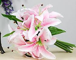 stargazer bouquet 1 bunch lot beautiful silk artificial plastic