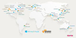 Microsoft Map Where Are The Datacenters Here U0027s A Map Of All The Azure And Aws