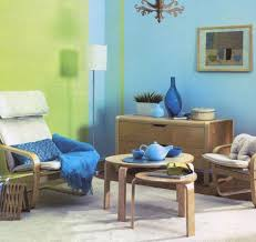 blue paint color and home furnishings matching colors for modern