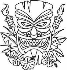 printable tiki mask template from printabletreats com hawaiian