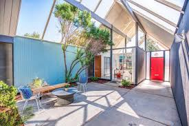 Eichler House by Sunnyvale Eichler With Double A Frame Atrium Asks 1 78 Million