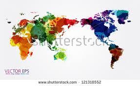 free watercolor world map vector download free vector art stock