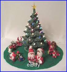 ceramic light up christmas tree vintage 1978 nowell s mold ceramic light up christmas tree skirt