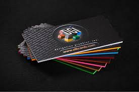 Business Cards With Foil Colored Edge Business Cards Vivid Colors To Give Your Cards The