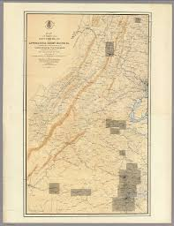 Battle Of Gettysburg Map Map Of The Region Between Gettysburg Pa And Appomattox Court