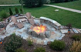 Large Firepits Gas Pits Patio Overhead View Of Oval Flagstone Patio