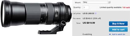 sony camera black friday black friday deals tamron 150 600mm a mount lens for 699