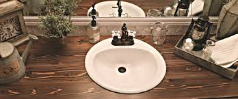 how to make a wood vanity top white drop in sink two tier wall