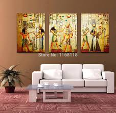 painting wall murals alternatux com free shipping triple abstract no frame picture egyptian mural room escape modern decorative painting a large