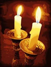 shabbat lights shabbat candles original felt tapestry by bracha lavee bracha