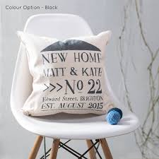 new home cushion personalised for new home owners by oakdene