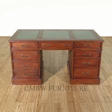 Regency Office Furniture by 4ft Wide Distressed Solid Mahogany Regency Office Computer Desk W