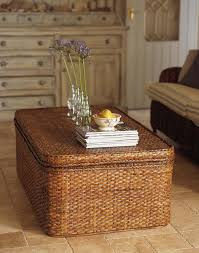 Seagrass Storage Ottoman Seagrass Ottoman Storage With Tassel Decor Railing Stairs And