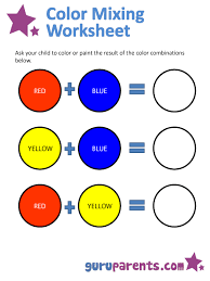 primary colors worksheet free worksheets library download and