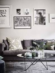 White Home Interior Design by Living Room In Black White And Gray With Nice Gallery Wall