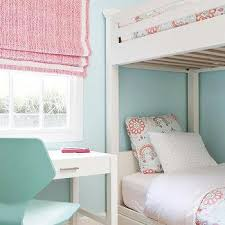 pink and blue bunk bed bedding design ideas