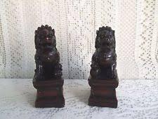 choo foo dogs antique figurines statues ebay