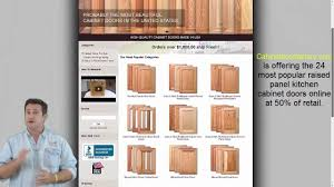 Custom Kitchen Cabinet Doors Online Raised Panel Custom Cabinet Doors At Over 50 Off Youtube