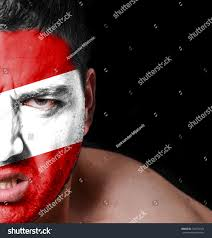 Argentina Flag Face Portrait Angry Man Painted Flag Peru Stock Photo 184774724