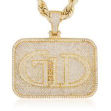 custom pendants 14k yellow gold custom gd pendant shyne jewelers