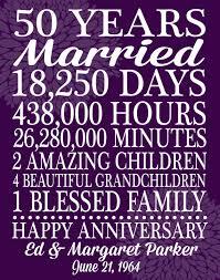 50 year wedding anniversary gift anniversary gift print custom personalized by playonwordsart
