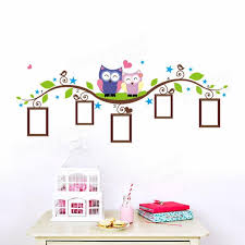 Owl Wall Decor by Owl Tree Branch Frame Wall Sticker Living Room Home Decoration