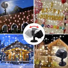 Light Flurries Snowflake Projector by Amazon Com Gaxmi Led Christmas Projector Lights Snowfall