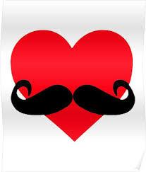 valentines for men s day heart mustache tshirt day boys men