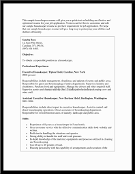 Resume Sample For Housekeeping Example Of A Housekeepers Resume Loses Advice Cf