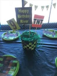 Minecraft Party Centerpieces by Little Monster First Birthday Little Monsters Birthday Party