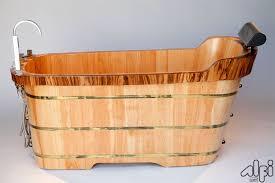 Wood Bathtubs Alfi Brand Ab1148 59 U0027 U0027 Free Standing Wooden Bathtub With Tub Filler