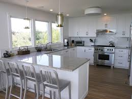 Modern Breakfast Bars Dining Room Contemporary With Reclaimed - Kitchen with breakfast table