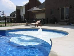 wedding cake pool steps c l vinyl liner pool with a sundeck and wedding cake steps