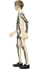 Boys Skeleton Halloween Costume Kids Skeleton Skin Suit Costume Boys Skeleton Halloween Costume
