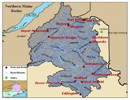 Maine County Map Map Of The Northern Maine River Basins Click On The Image To Go