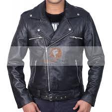 buy biker jacket buy the walking dead negan jeffrey dean morgan black biker leather