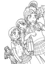 anime coloring pages coloringsuite