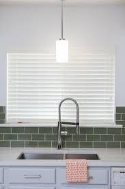 green tile backsplash kitchen decorating interesting faux wood blinds in vertical or horizontal