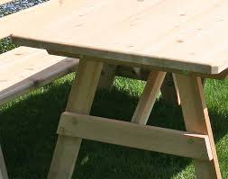 Red Cedar Octagon Walk In Picnic Table by Red Cedar Picnic Table