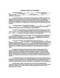 business consulting agreements templates