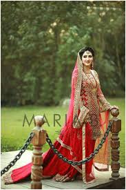 Red Wedding Dresses Maria B Latest Bridal Collection 2017 Beststylo Com