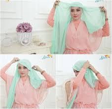 tutorial hijab noura bergaya eksentrik pakai satu anting dengan tutorial hijab ini