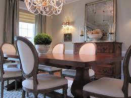 round gray trestle dining table design ideas